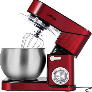 CUSIMAX Stand Mixer Stainless Steel 6.5-QT, kitchen Mixer 6-Speeds Tilt-Head Food Mixer with Dough Hook, Wire Whip & Flat Beater, Splash Guard for Hom for Sale in Ontario, CA