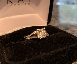 Diamond Engagement Ring and Wedding Band for Sale in Durham, NC