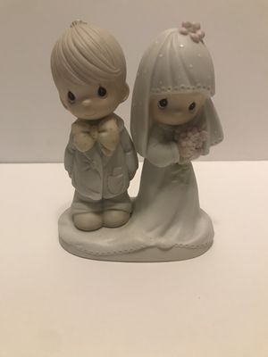 """Precious Moments - Bride & Groom """"The Lord Bless You & Keep You"""" 1979 PreOwned for Sale in Fresno, CA"""