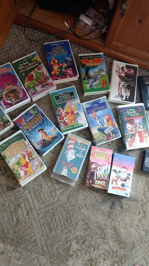 Extremely rare Disney VHS lot and DVD/VHS player for Sale in Belleville, IL