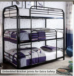 Metal Bunk Bed... $49 Down payment... Prices in description 👇... Easy to apply on our website 📲💻👨💻👩💻 for Sale in Las Vegas, NV