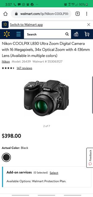 Nikon coolpix L830 for Sale in Midland, TX