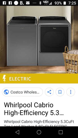 like new Whirlpool wash&dry, too of the line appliance with all the bells and whi for Sale in Los Angeles, CA