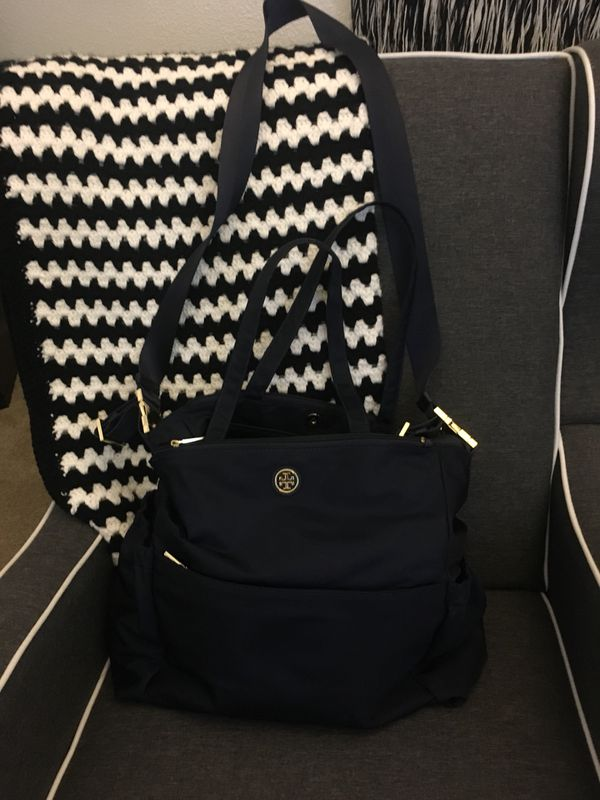 5df4f8325312 Authentic Tory Burch Diaper Bag - Navy Blue for Sale in Fremont