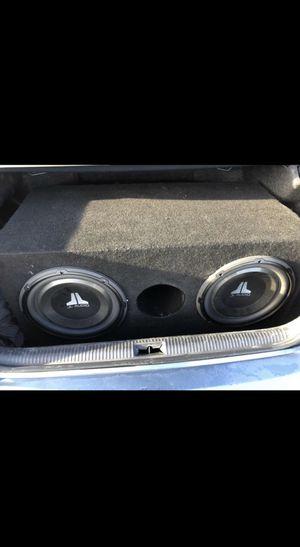 "2 12"" JL Audio Subs with 600 Watt Alpine Amp for Sale in Murfreesboro, TN"