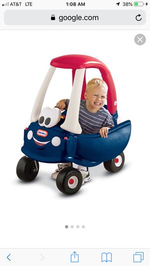 Little tikes cozy coupe car blue and red for Sale in Fort Worth, TX