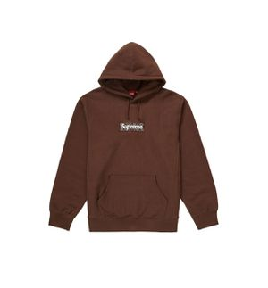 Supreme box logo hoodie brown bandana size large for Sale in Los Angeles, CA