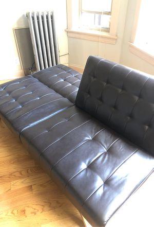 Leather futon for Sale in Chicago, IL