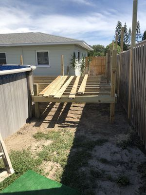 Installation wood decking pool pressure treated for Sale in Tampa, FL