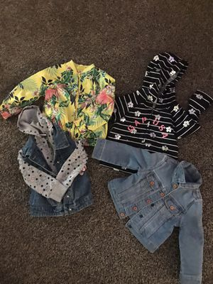 ( FOUR) SIZED 2 TODDLER JACKETS FOR YOUR LITTLE FASHIONISTA!!! LIKE NEW BARELY WORN! for Sale in Cleveland, OH