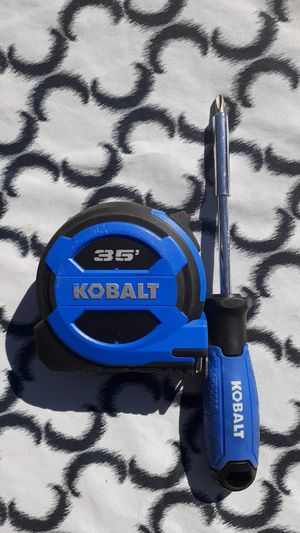 Kobalt tape measure 35 ft brand new and screwdriver brand new for Sale in Greer, SC