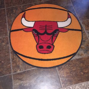 """New Chicago Bulls Rug Great Colors 25"""" Round for Sale in Fresno, CA"""