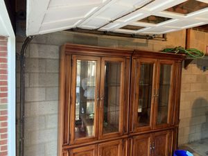 Double Solid Wood Curio Cabinets w/ Corner Shelf for Sale in Ontario, OH