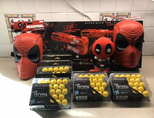Deadpool Special Edition Nerf Blasters 150 rounds +more NEW for Sale in Grafton, MA