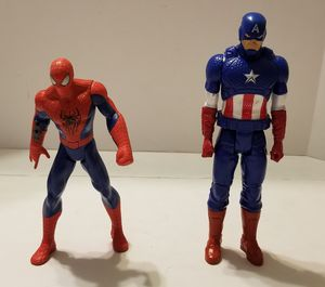 Spiderman and Captain America Marvel Hasbro 2014 for Sale in St. Petersburg, FL