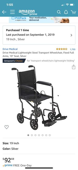 Wheel chair (Brand New) by Drive Medical for Sale in Issaquah, WA