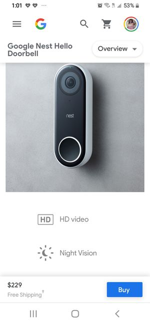 Google Nest doorbell camera BOXED NEVER OPENED for Sale in Livermore, CA