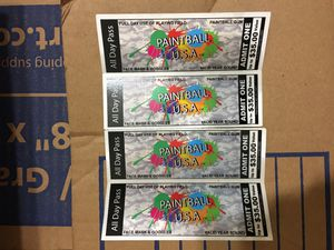 FREE PAINTBALL TICKETS for Sale in Tempe, AZ