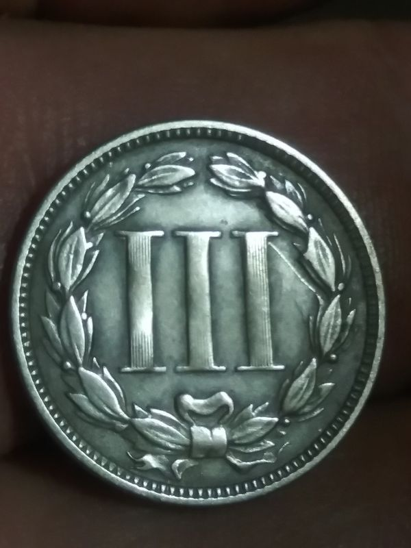 1867 beauty three cent Nickel civil war era scarce