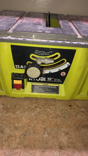 RYOBI TABLE SAW for Sale in Oxon Hill, MD