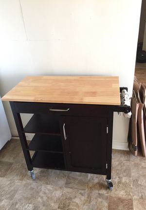 Rolling Kitchen Island for Sale in Honolulu, HI