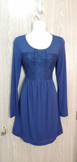 S-NWT Casual navy blue long sleeve dress for Sale in Kent, WA