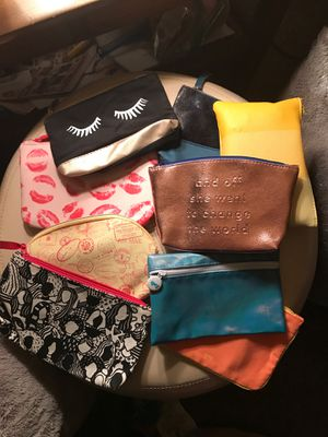 9 Ipsy makeup bags. for Sale in East Aurora, NY