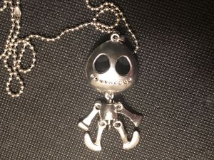 """Halloween Dancing Skeleton Pendant on 14"""" Chain for Sale in Tacoma, WA"""