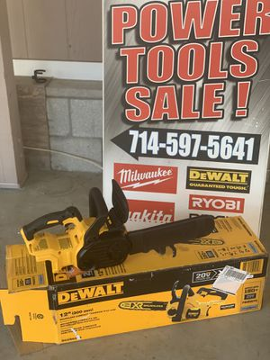 DEWALT 12 in. 20-Volt MAX Lithium-Ion Cordless Brushless Chainsaw (Tool Only) for Sale in Perris, CA