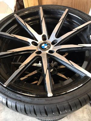 22 inch BMW wheels and tires for Sale in Silver Spring, MD