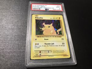 Pikachu Cracked Ice Evolutions Psa 9 Pokemon Card for Sale in Fairmont, MN