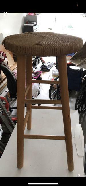 Round beige wooden stool/chair for Sale in Reston, VA