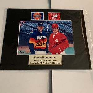Nolan Ryan Pete Rose Autographed for Sale in Seattle, WA