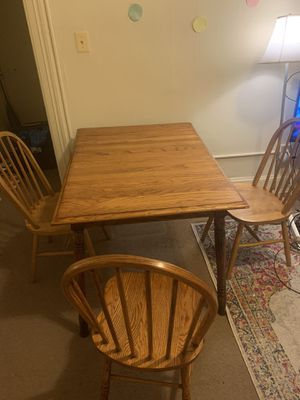 Solid Wood Table With 3 Chairs for Sale in Washington, DC