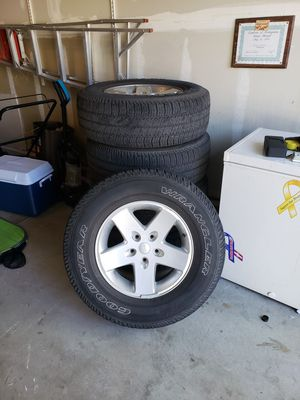 5 jeep wrangler wheels and tires 5x5 bolt pattern for Sale in Brighton, CO
