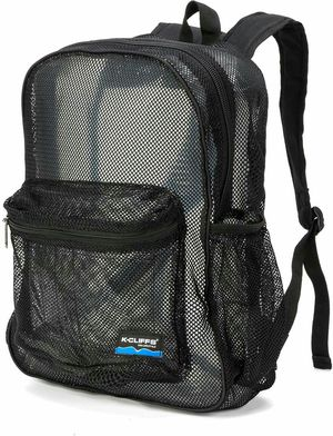 Mesh Backpack Heavy Duty Student Bookbag Basic School Bag Simple Classic Security Daypack For Middle High School Kids Boys Girls Men Women Black for Sale in Pico Rivera, CA