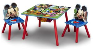 Disney Mickey Mouse Kids Table and Chair Set with Storage by Delta Children for Sale in Hayward, CA
