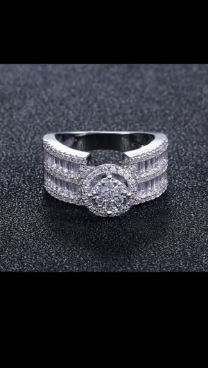 Classy Luxury Stamped 925 S Silver NEW BRIDAL/ Engagement Ring for Sale in Houston, TX