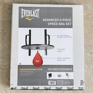 Everlast Advanced 6 Piece Speed Bag Set Platform Kit Gloves New for Sale in Ocoee, FL