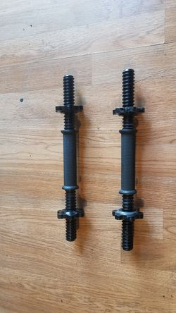 "Standard 1"" Adjustable dumbbell handles with spin locks Brand new for Sale in Montebello,  CA"