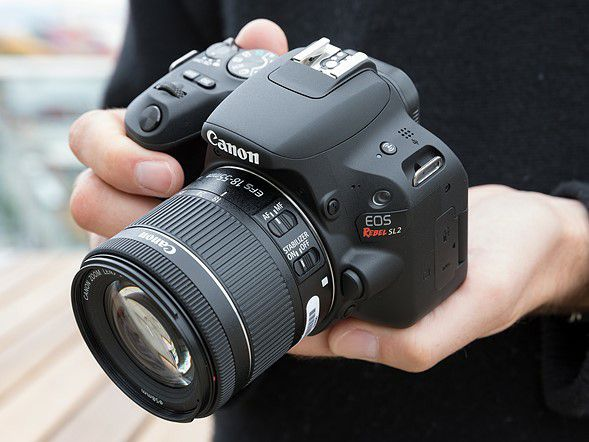Canon Rebel EOS SL2 with 18-55mm lens