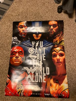 Justice League Authentic Movie Poster for Sale in Lakewood, CO