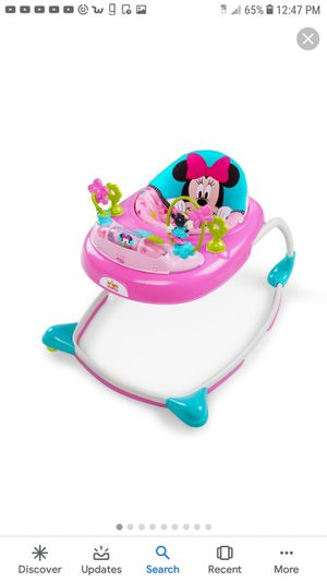 Like new Minnie mouse booster seat and walker. for Sale in Mesquite, TX