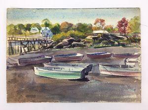 "Original 10"" X 14"" Landscape Watercolor by 1950's Illustrator R. Schwartz for Sale in Hamilton Township, NJ"