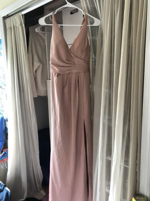 Long pink prom dress for Sale in Virginia Beach, VA