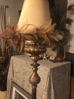 Antique brass metal floor lamp. for Sale in Seattle, WA