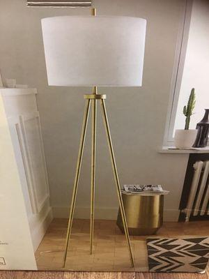 New Tripod brass floor lamp for Sale in Tucson, AZ