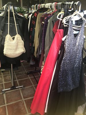 Dresses, Gowns, casual and dress clothing, purses, shoes and accessories $1 and up for Sale in Los Angeles, CA