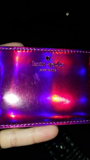 Kate spade iridescent pink/ purple card holder for Sale in Trenton, NJ