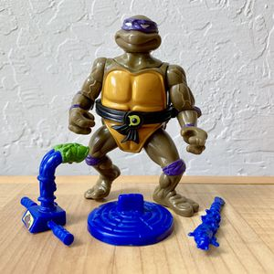 Vintage 1991 tall Teenage Mutant Ninja Turtles Head Droppin Don Action Figure Complete TMNT Collectable Toy for Sale in Elizabethtown, PA